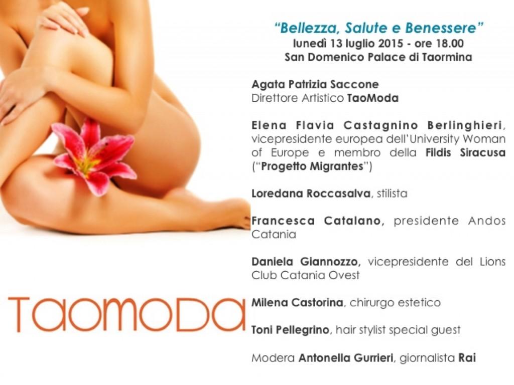 Taomoda 2 convegno bellezza, salute e benessere 2015