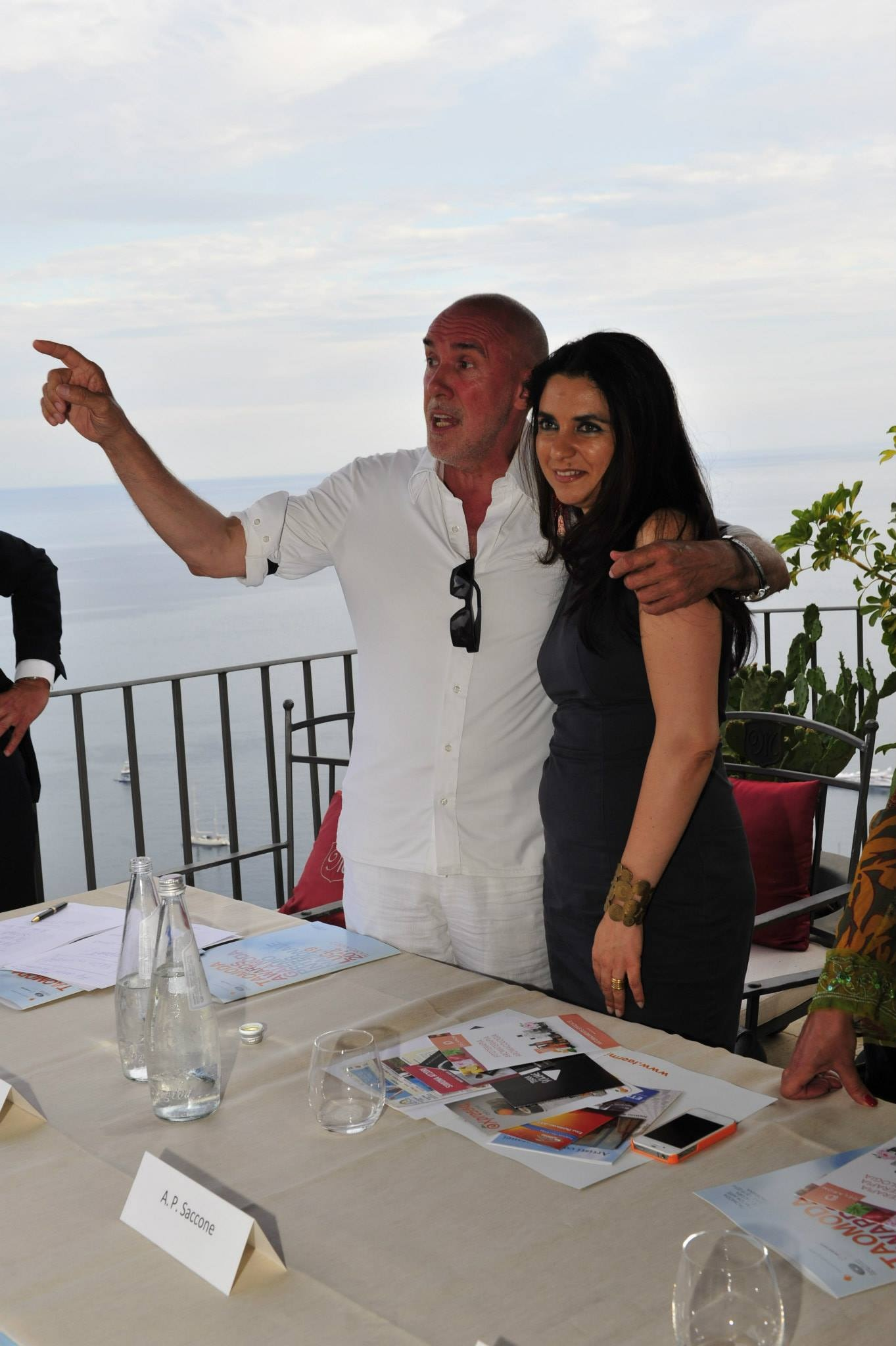 Diego Dalla Palma con Agata Patrizia Saccone